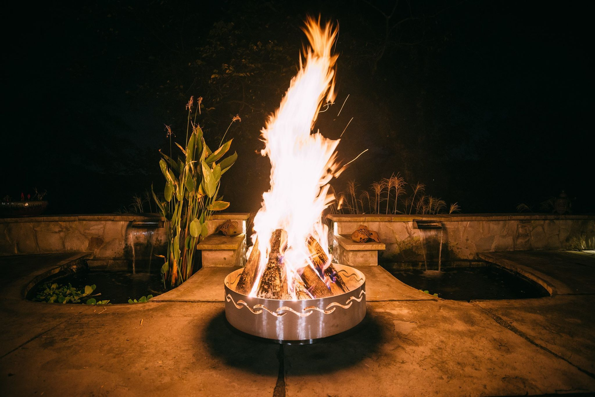 Can I Put A Fire Pit On My Wood Deck Fire Pit Wood Deck Fire Pit Art