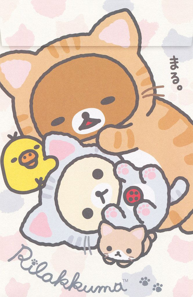 "SanX Rilakkuma ""Cat"" Letter Set 1 Rilakkuma wallpaper"