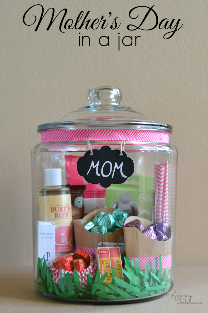 Mommy Testers, Mother's Day Homemade Gift, Mother's Day In A Jar, Gifts In A Jar, Dove Dark Chocolate