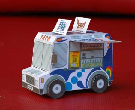 Car Town Papercraft - Taco Truck | Paper Craft | Trucks