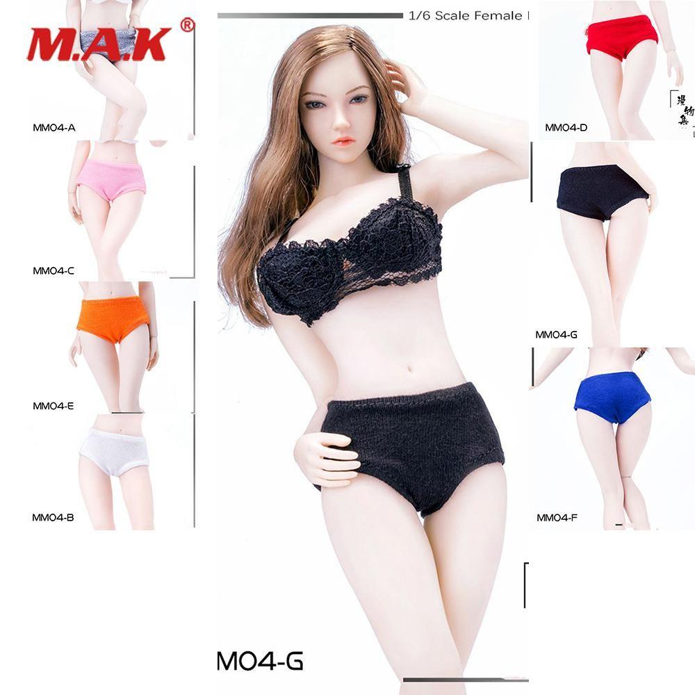 1//6 Scale Women Underwear Bra Briefs Set for 12/'/' Female Figure Accesories
