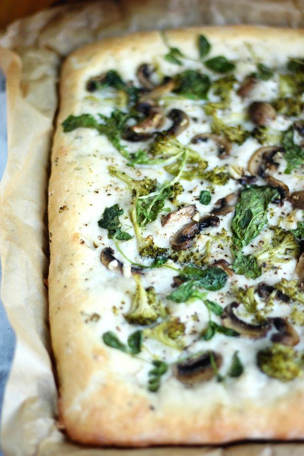 Pizza de vegetales de pan plano a base de plantas - NeuroticMommy