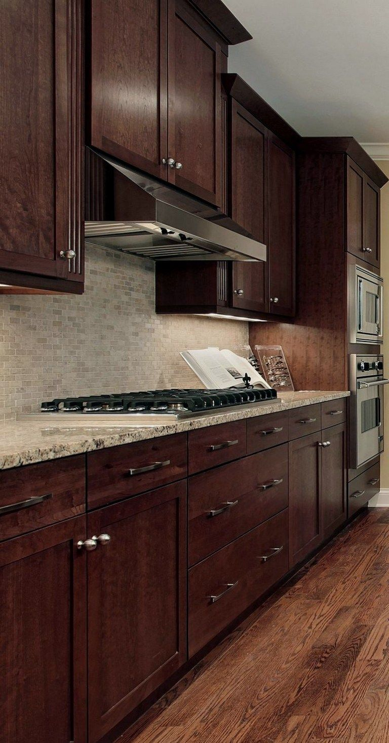 29 exceptional ideas of the cherry kitchen cabinets in modern kitchen 00001 in 2020 cherry on kitchen ideas with dark cabinets id=54954