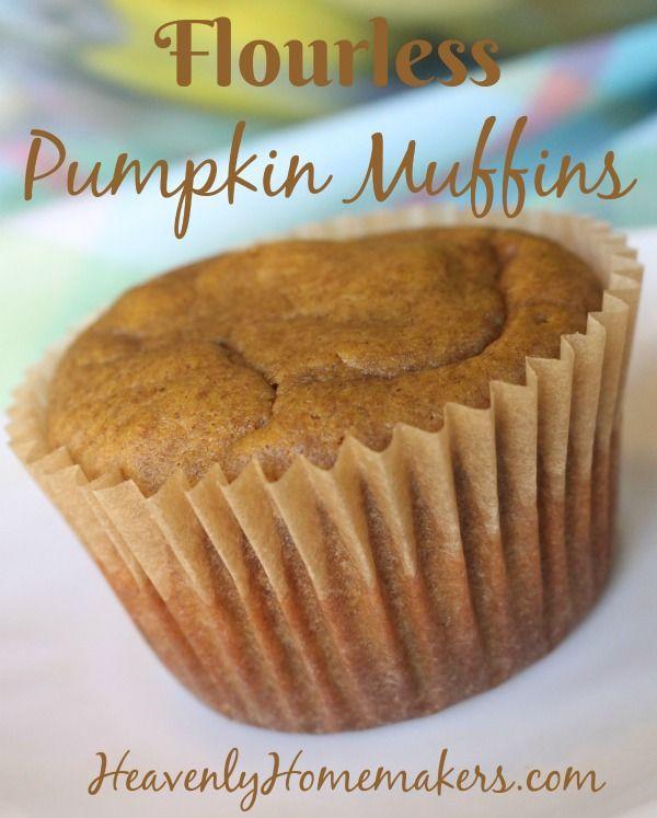 Easy Flourless Pumpkin Muffins #pumpkinmuffins