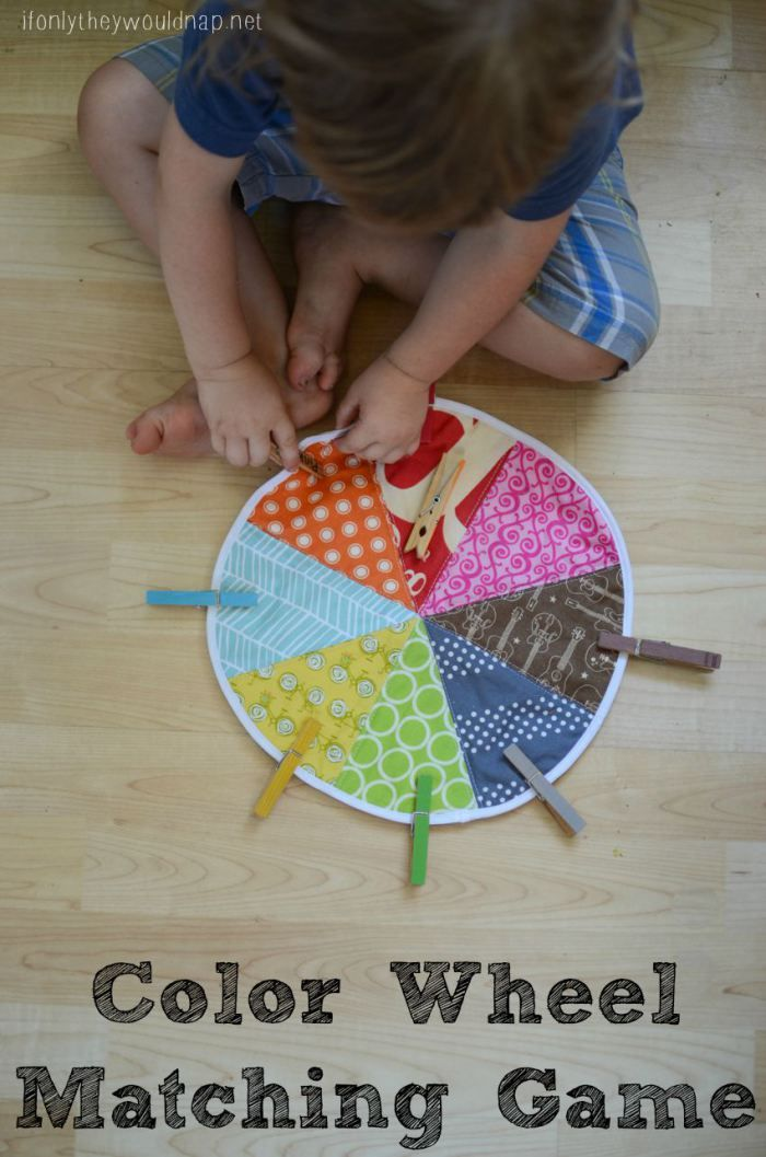 Diy Color Wheel Matching Game For Toddlers And Pre Schoolers Can