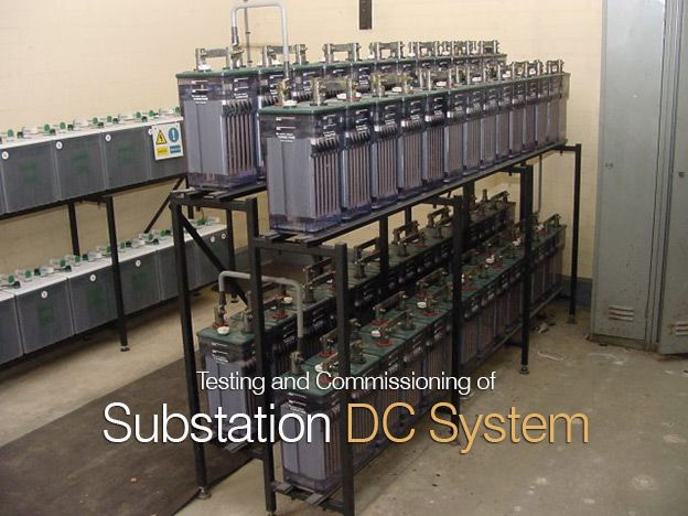Power substation DC system consists of battery charger and battery