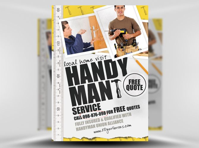 Handyman Flyer Template   Graphic Design Handyman