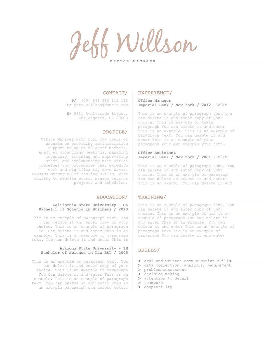 Resume Template 120140 Resume templates, Good resume