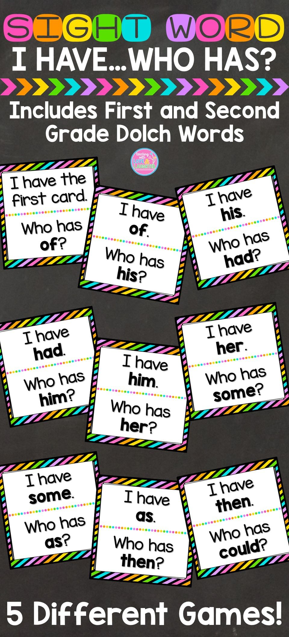 I Have Who Has Game {First and Second Grade SightWords