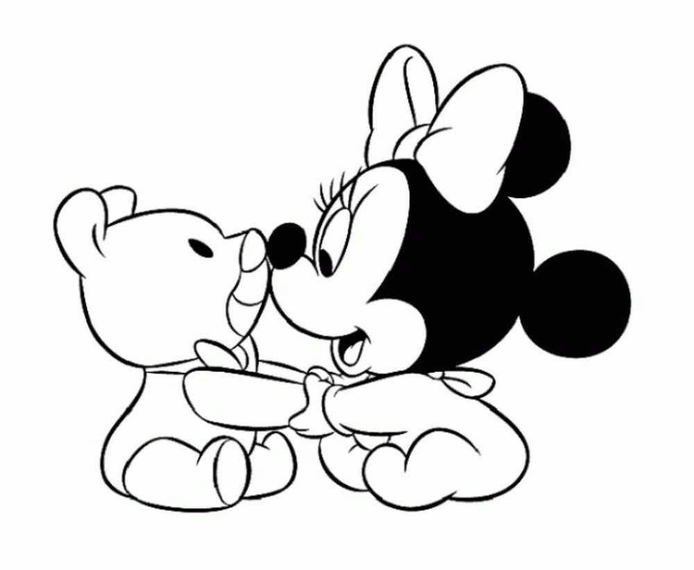 Minnie Mouse Coloring Pages Baby Pictures Brilliant Coloring