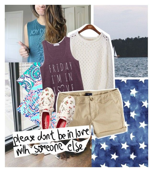 """""""bored."""" by brookforever ❤ liked on Polyvore featuring Lilly Pulitzer, American Eagle Outfitters, Keds and KEEP ME"""