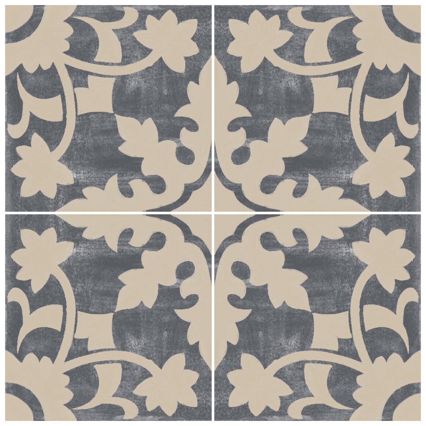 Willow In Fonte Grey Vinyl Tile Sticker In 2020 Vinyl Tile