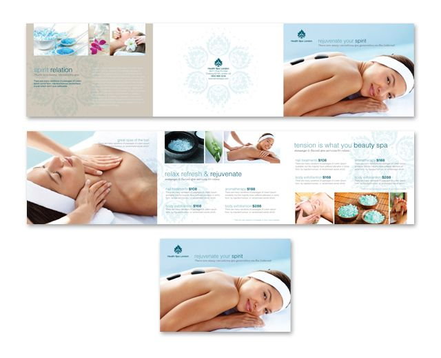 Day Spa & Beauty Salon Tri Fold Brochure Template Http://Www