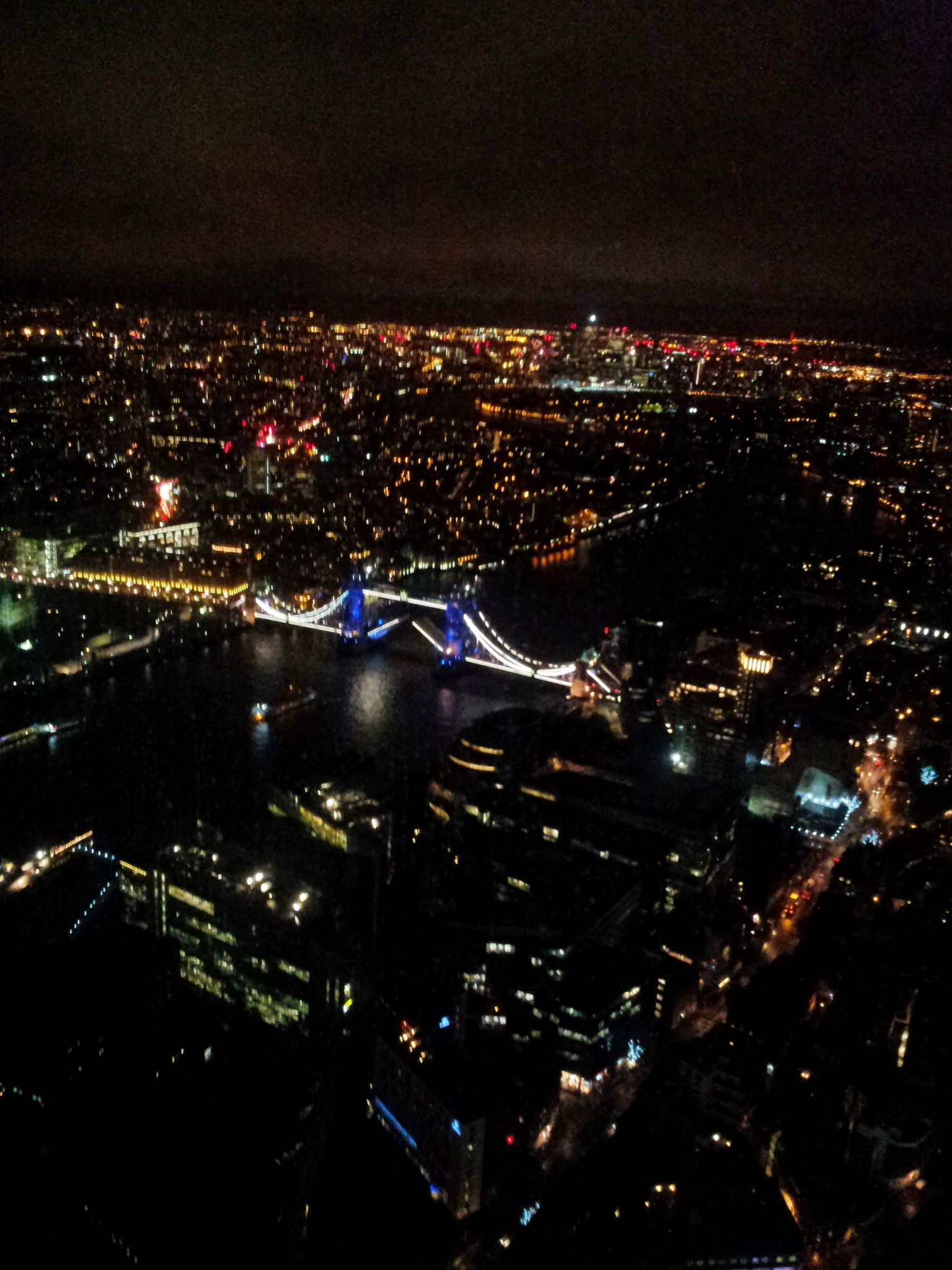 The rare event of Tower bridge captured open from the Shard tower @www.facebook.com/finelivingbg
