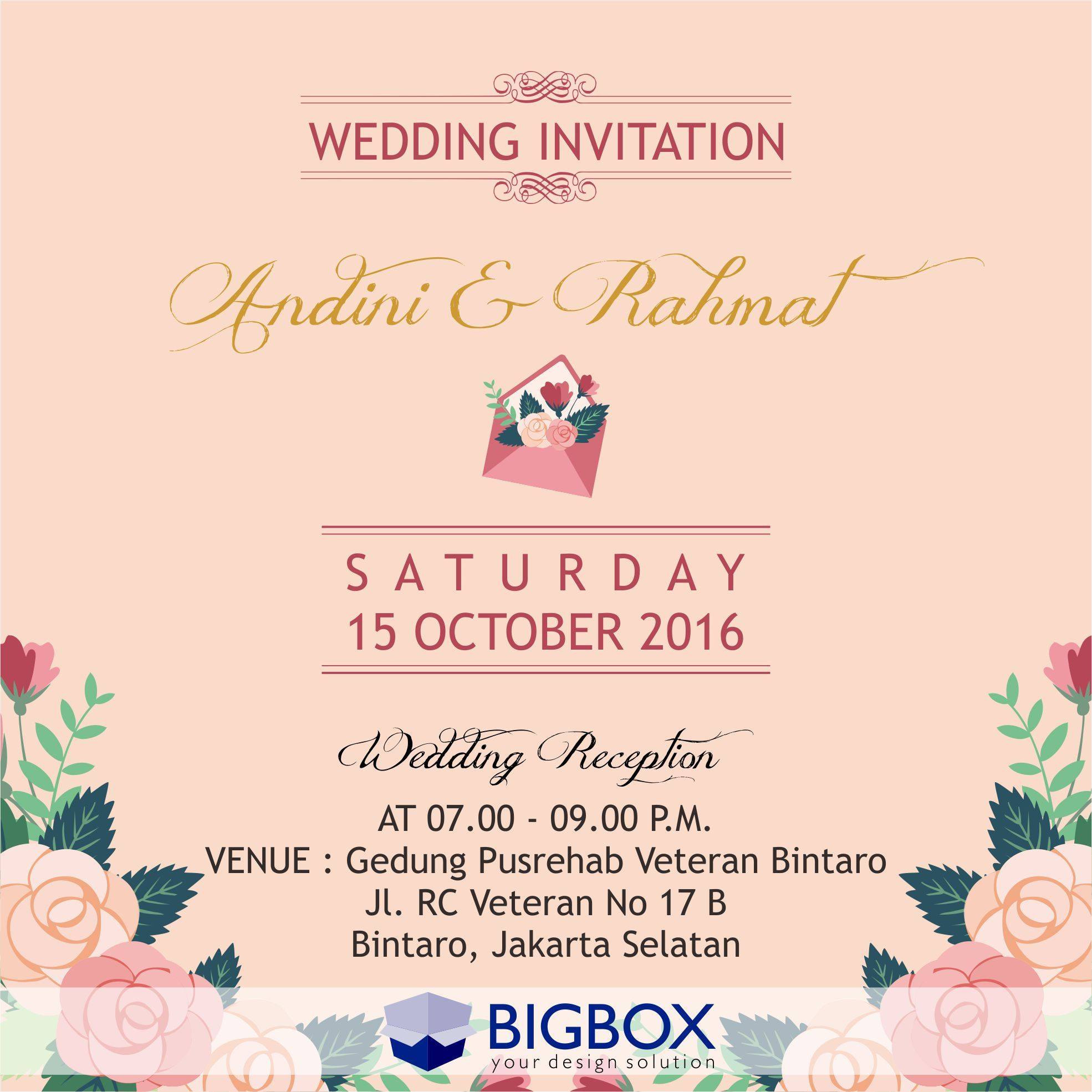 Online Wedding Invitation E Invitation Wedding Inviation Undangan