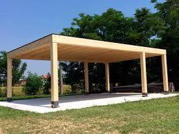 Pin di su tettoia auto in legno pinterest for Bauhaus case in legno