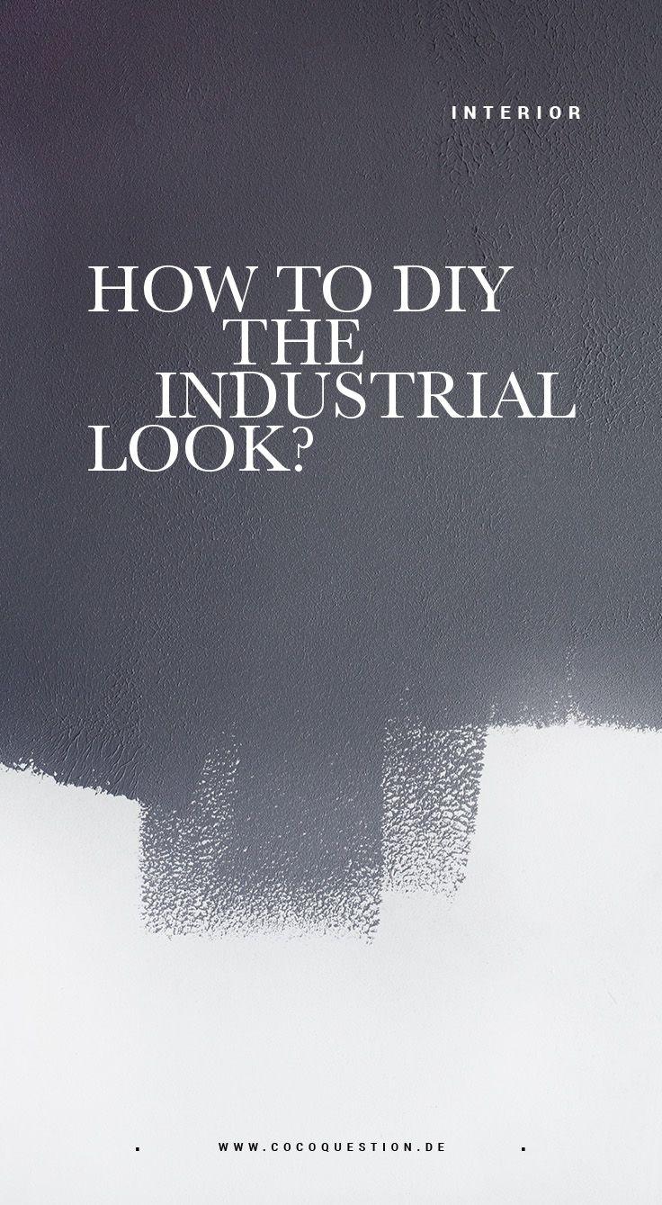 interiordesign diy: eine wand in beton optik - the coco question