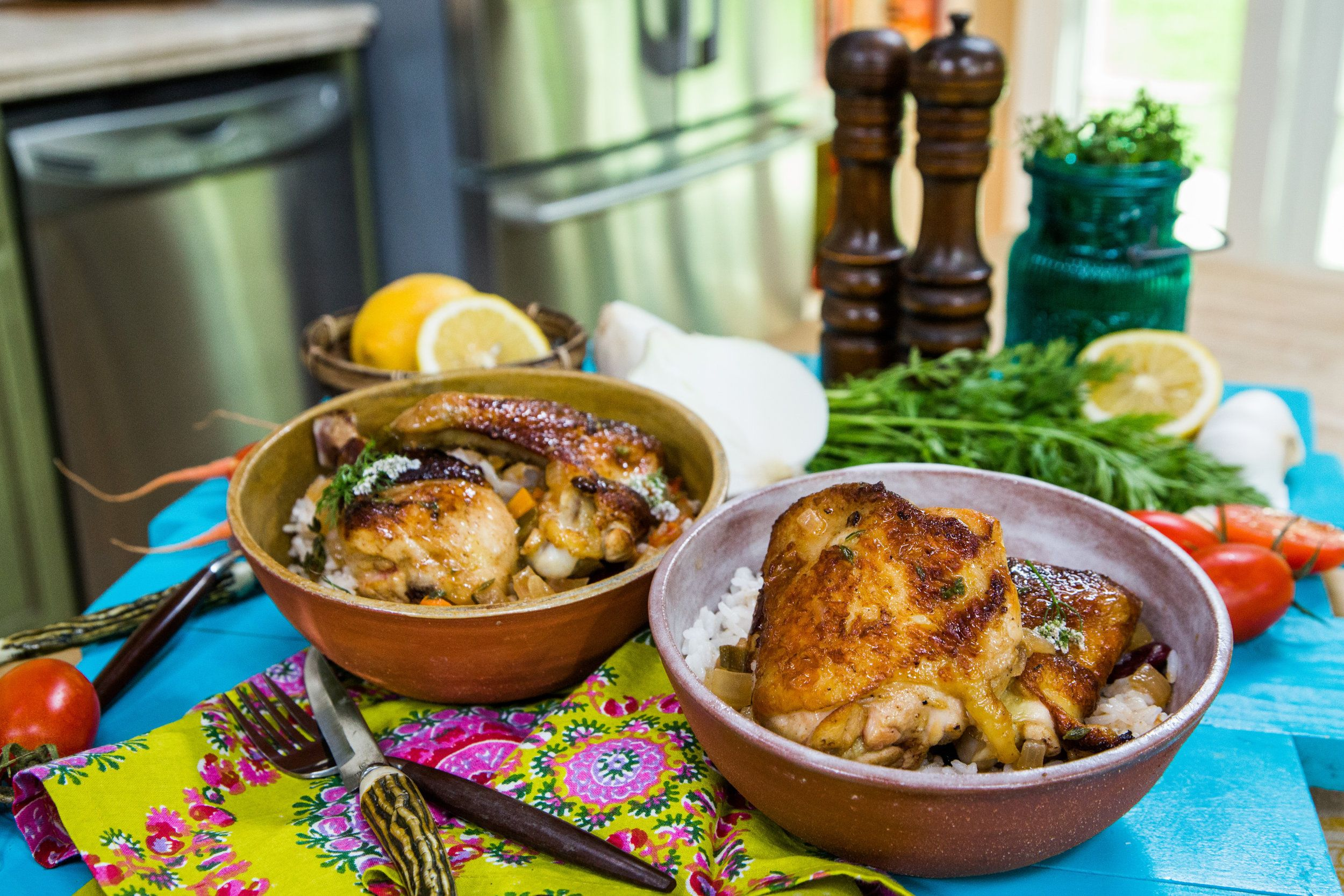 gwendolyn's jamaican brown stew with chicken  peas