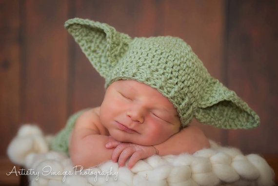 Baby Yoda Hat Star Wars Newborn 3m 6m Crochet Photo Prop Baby Clothes Boys  Girls Gender Neutral HALLOWEEN Costume CHRISTMAS Gift So Cute 6e9369336299