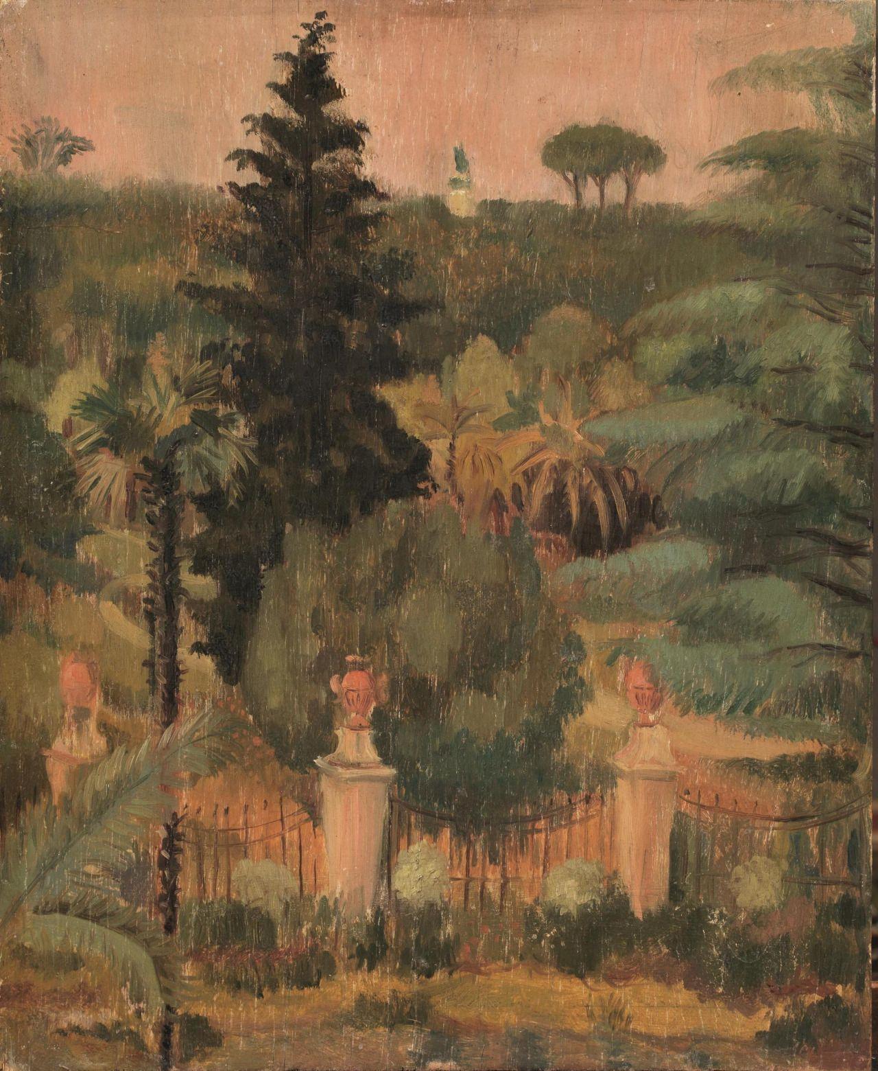 Scipione (Italian, 1904-1933), Villa Corsini, c.1929. Oil on board, 36.5 x 29.5 cm.