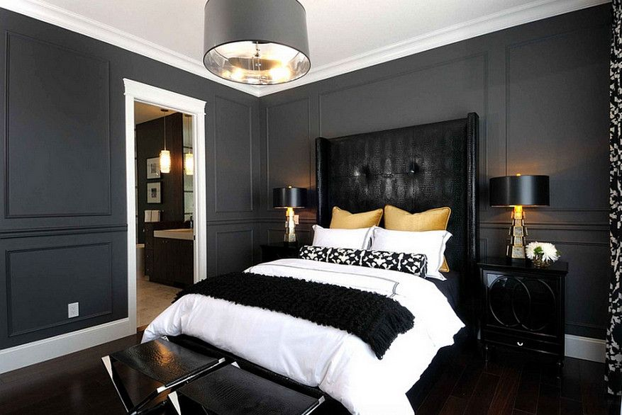 15 luxueuses chambres coucher d cor es en noir et dor - Deco chambre dore ...