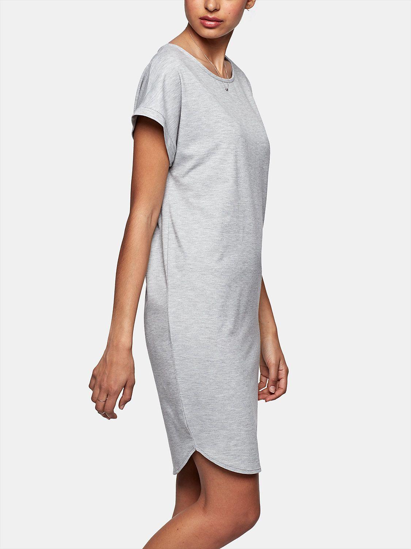 wijde jurk van pique grijsmelee