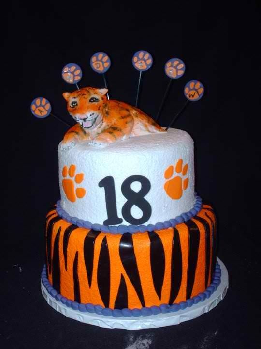 Wondrous Clemson Cake Hollys Llc 30 Birthday Cake Cake Party Cakes Funny Birthday Cards Online Eattedamsfinfo