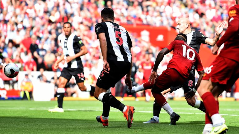 Liverpool ahead against Newcastle Premier league