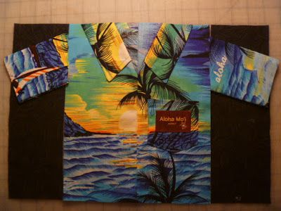 Construct a Hawaiian shirt quilt block tutorial   Hawaiian shirts ... : hawaiian shirt quilt pattern - Adamdwight.com