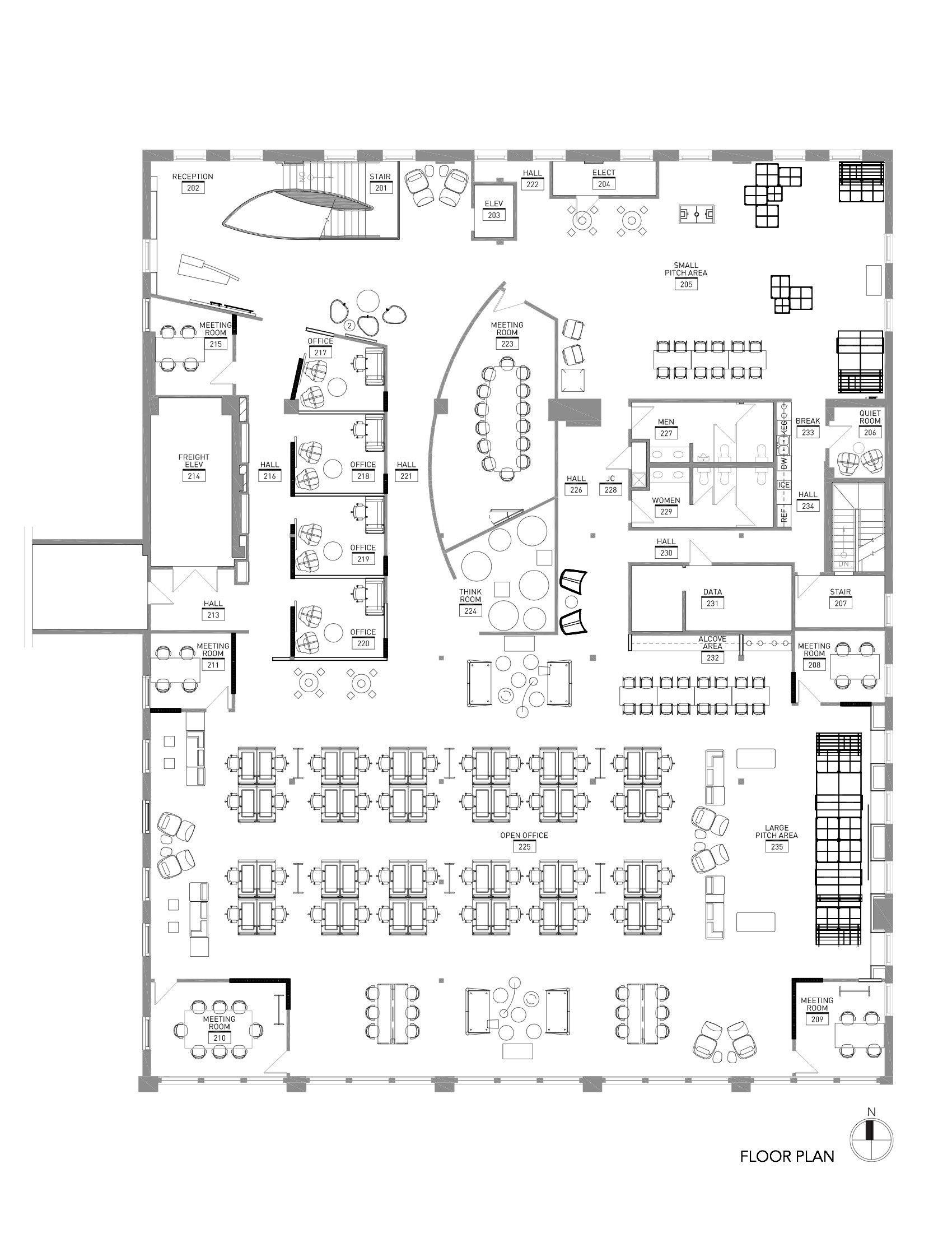 Gallery Of Sprint Accelerator Rmta 12 Office Floor Plan Floor Plan Design Office Layout Plan