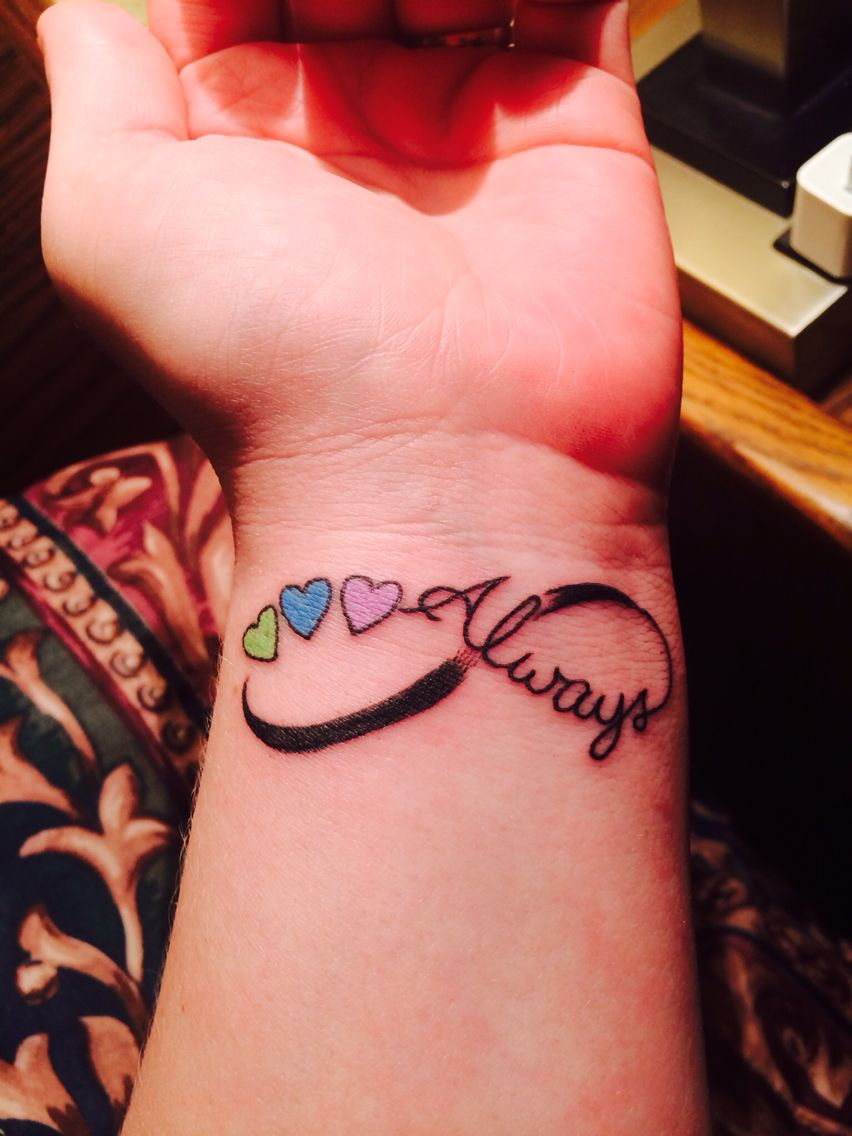 Always infinity with kids birthstone colors | tattoo ...
