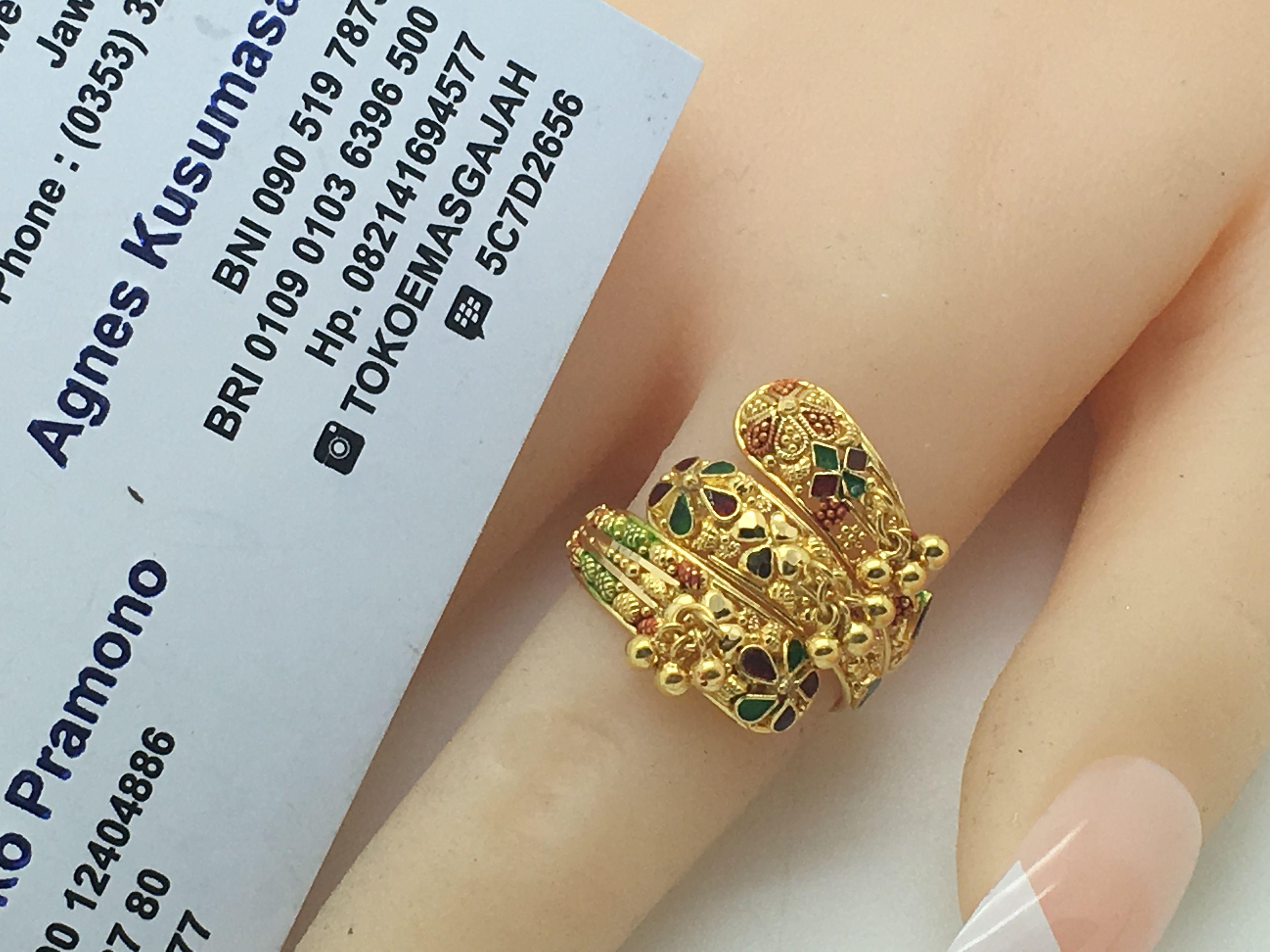 22k 91 6 Gold Dubai India Swirl Ring Adujule Size