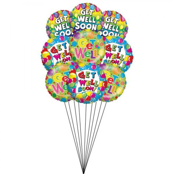 Usa Shades Of Good Health Get Well Balloons Mylar Balloons Balloon Bouquet