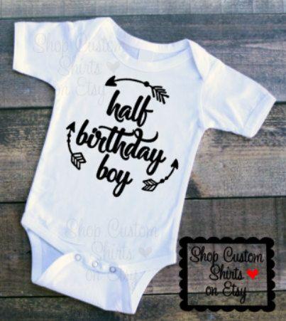 Half Birthday Boy Arrows Baby 1 2 Outfit