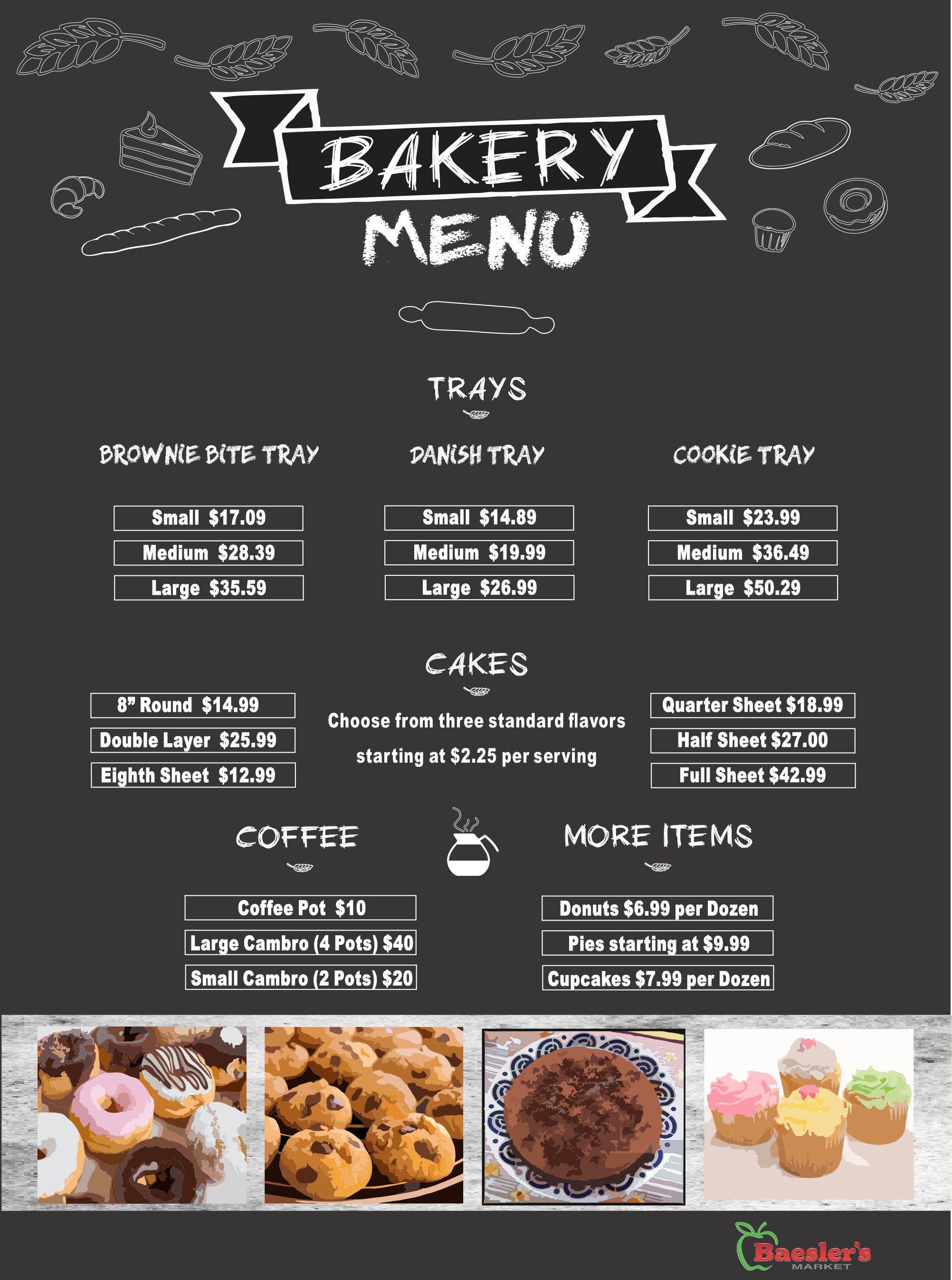 Bakery Menu   Bakery menu, Menu