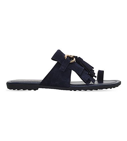 4f228e51d48 TOD S Fringed Suede Sandals.  tods  shoes  sandals