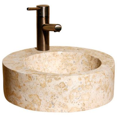 Allstone Group Vessel Bathroom Sink Sink Finish: Sandstorm