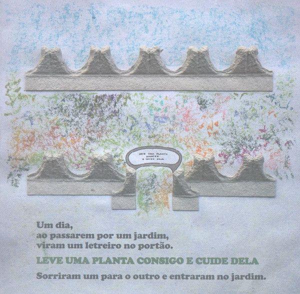 "Illustrations by Nídia Nair in ""A Plantinha dos Meus Pais"" Texto de Manuela Ribeiro."