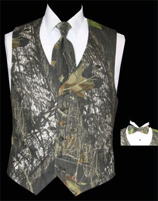 camo tux vest choose your vest wedding