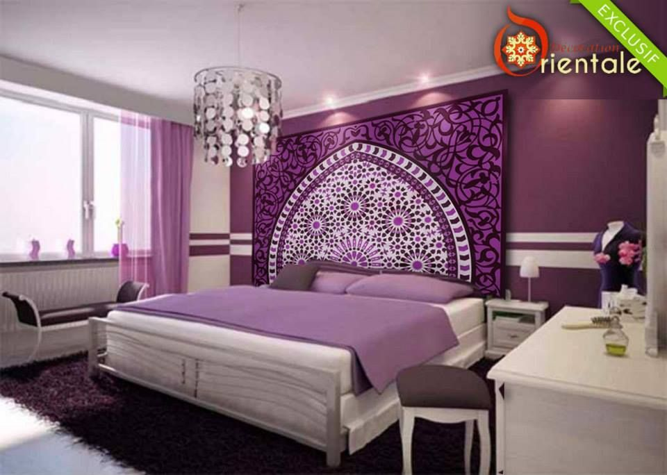 t te de lit orientale et porte marocaine tete de en t te et mosaique. Black Bedroom Furniture Sets. Home Design Ideas