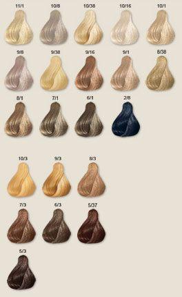Tonos De Rubio Carta De Colores Wella Koleston Perfect Tinturas De Pelo Color De Cabello