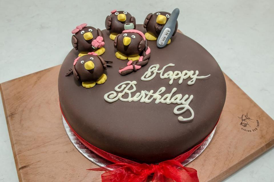 NZ Kiwi Birthday Cake! Chocolate caramel cake, with