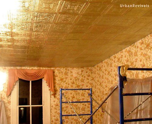 Gilded Armstrong Ceiling Tile Being