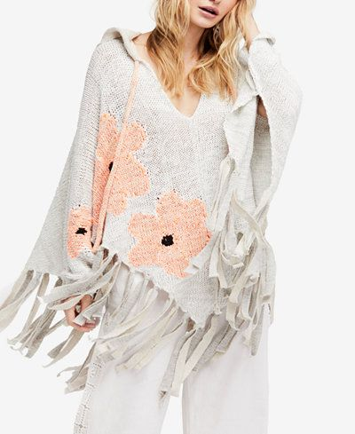 6c100407d2 Free People Dream of Daisies Poncho Sweater | WildChild.... | Poncho ...
