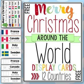 Merry Christmas Around the World Cards | School | Pinterest