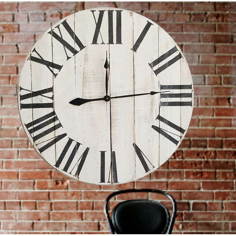 This Hand Made Farmhouse Wall Clock Features A Light