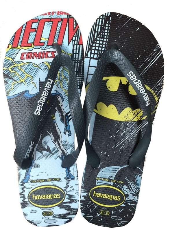 88f91b30a5 Havaianas Batman | flipflop in 2019 | Shoes, Mens flip flops, Flip flops