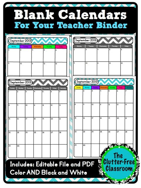 Are You Looking For A Blank Calendar Template To Use With Your