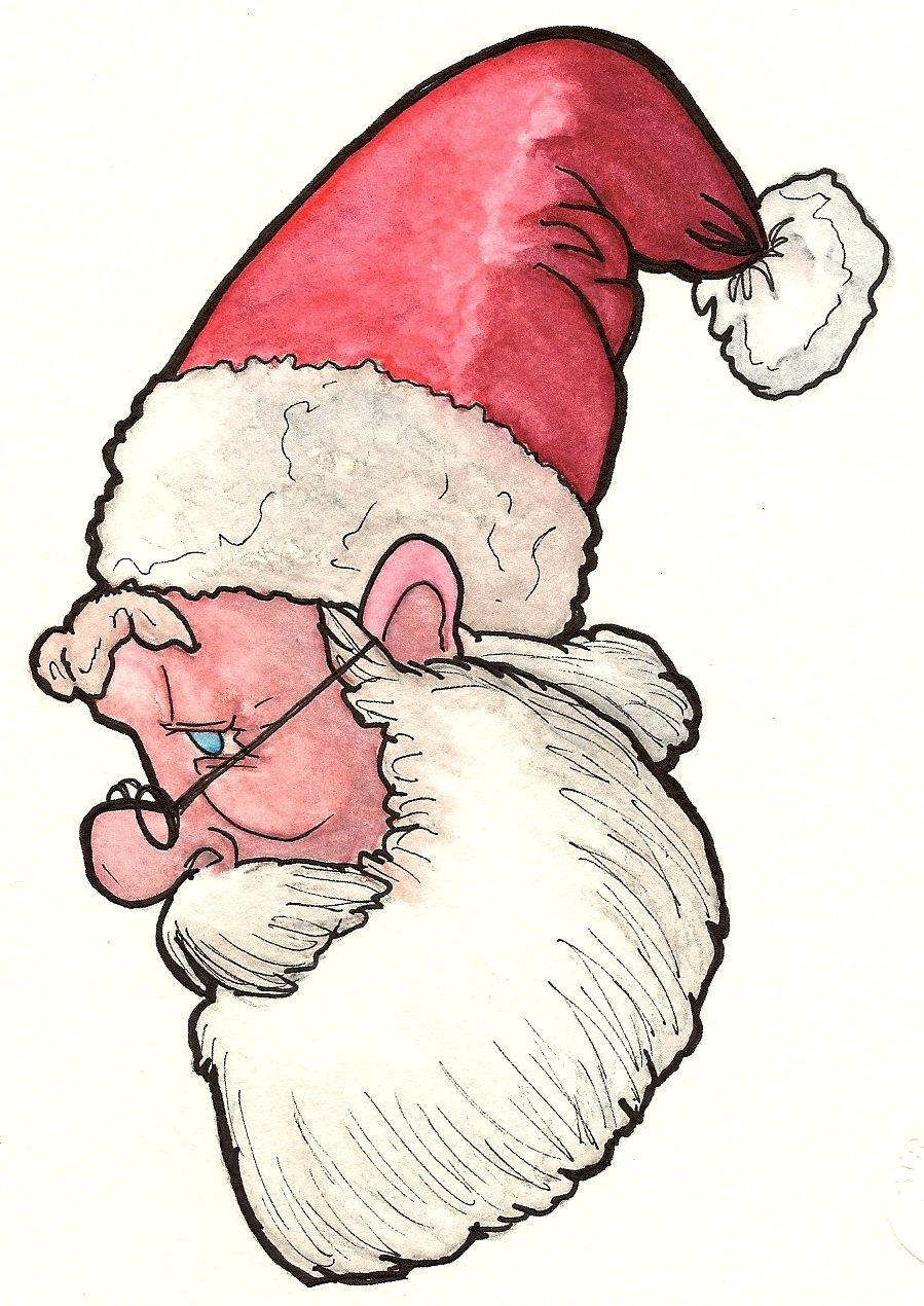 kris kringle years later most call him santa claus by now this water color was done from the same exact pencil drawing just modified to see how he would