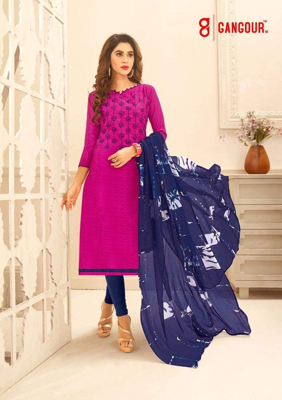 2a734b2bd6 Shree Ganesh Retail Womens Cotton Jacquard Churidar Salwar Kameez  Unstitched Dress Material (50009 PINK): Amazon.in: Clothing & Accessories